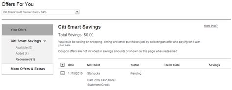 Reload Starbucks Gift Card - citi launches smart savings to compete with amex offers