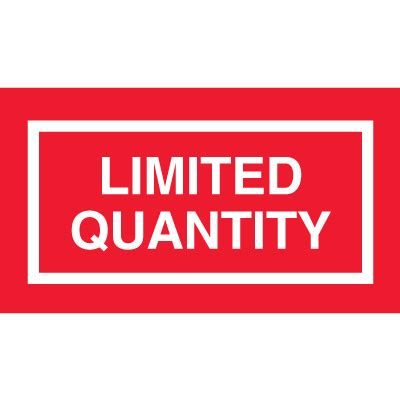 printable excepted quantity label image gallery limited quantity