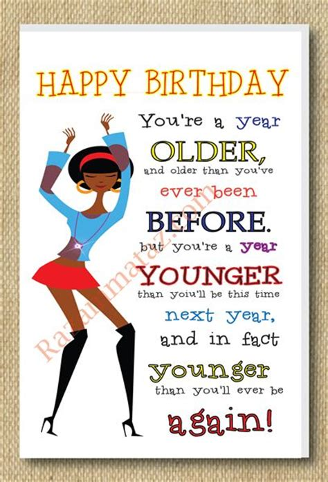 Afro American Birthday Cards African American Girl A Year Older Birthday Card Happy