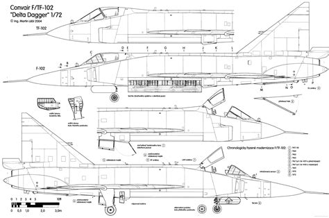 F Drawings Blueprints by Convair F 102 Delta Dagger Blueprint Free
