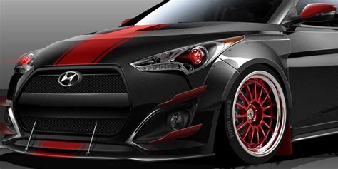 hyundai veloster turbo blacked out blood type racing veloster turbo heads to sema gearopen