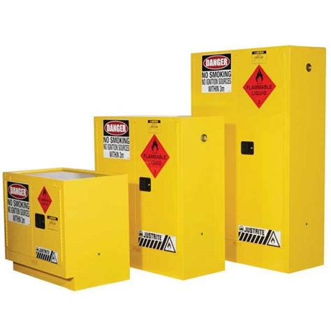 Justrite Flammable Liquid Storage Cabinet Cabinet Flammable Liquids Storage Justrite Yellow 160 Litre Ppe Safety