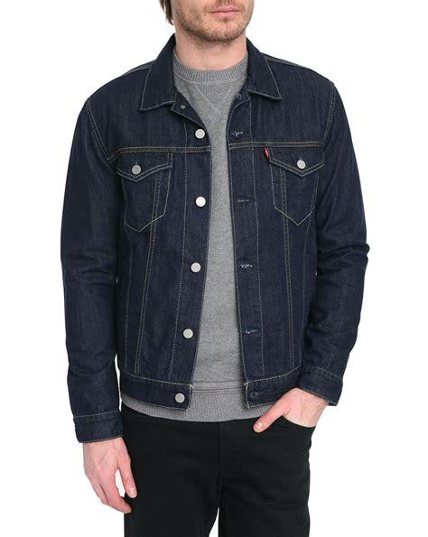 Blazer Levis levi s cut denim trucker jacket in blue for denim lyst