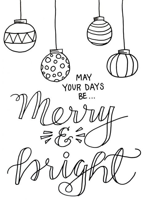 merry coloring pages merry and bright coloring page