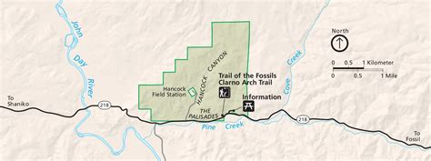 john day fossil beds map john day fossil beds maps npmaps com just free maps