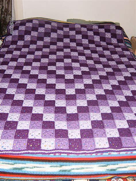 Selimut Patchwork Motif Purple Flower patchwork crochet free pattern design crochet