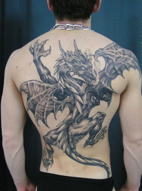 dragon back tattoos 100 s of back design ideas pictures gallery