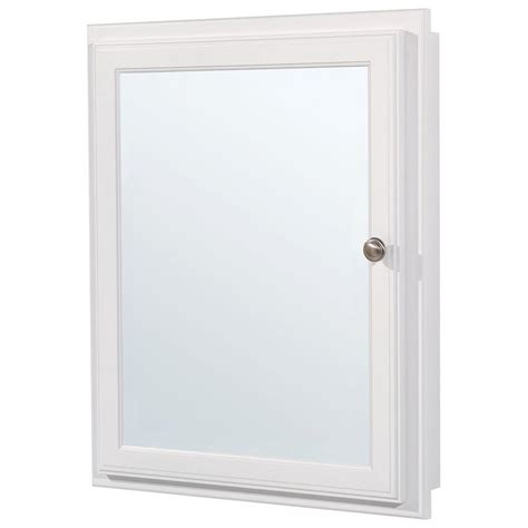 White Bathroom Medicine Cabinet Glacier Bay 20 3 4 In W X 25 3 4 In H X 4 3 4 In D Framed Recessed Or Surface Mount Bathroom