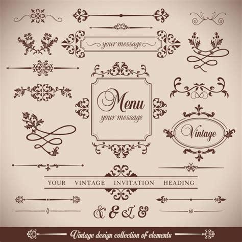 imagenes retro vector elementos ornamentales estilo vintage descargar