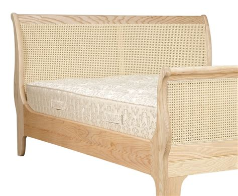 cane bed beethoven 4ft bespoke cane sleigh bed