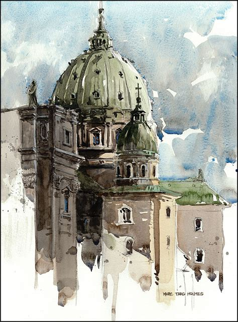urban watercolor sketching a cath 233 drale marie reine du monde marc holmes watercolor on canson 140lb cold press block 2