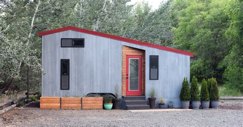 metal tiny house shedsistence tiny house d i y reclaimed walnut and