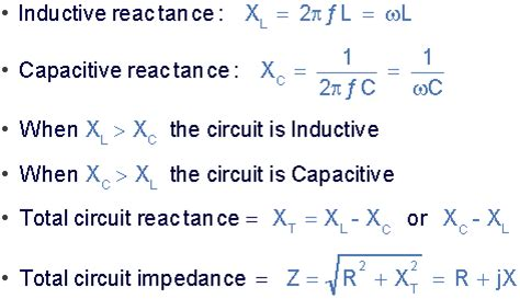 capacitive reactance formula pdf series resonance in a series rlc resonant circuit