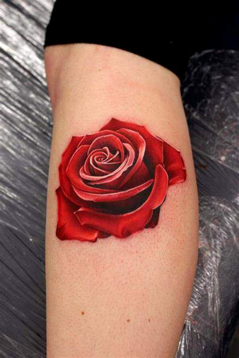 rose tattoos for legs images designs