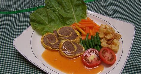 masakan nusantara resep rolade daging giling sapi
