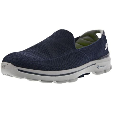 skechers mens fitknit slip on golf shoes tgw the