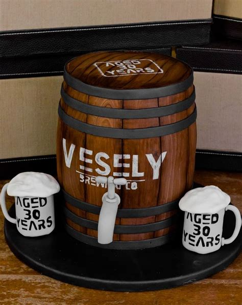beer barrel cake beer barrel keg cake the quot wooden quot slats are fondant with