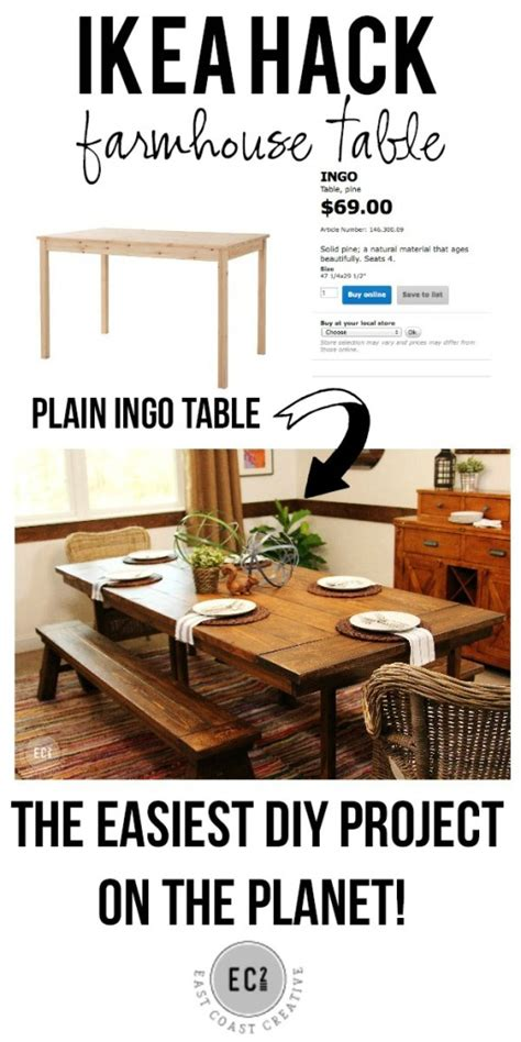 ikea farmhouse table ikea hack build a farmhouse table the easy way east