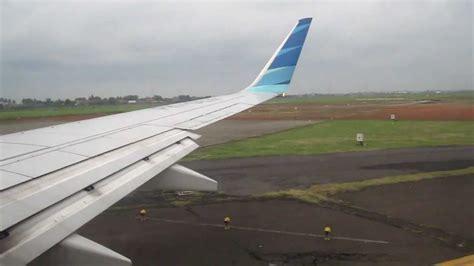 Air 2 Jakarta cloudy takeoff garuda indonesia boeing 737 800 at jakarta soekarno hatta intl airport