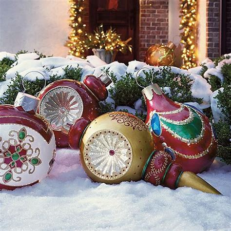 Outdoor Christmas Ornaments by Giant Finial Reflector Fiber Optic Ornament Outdoor