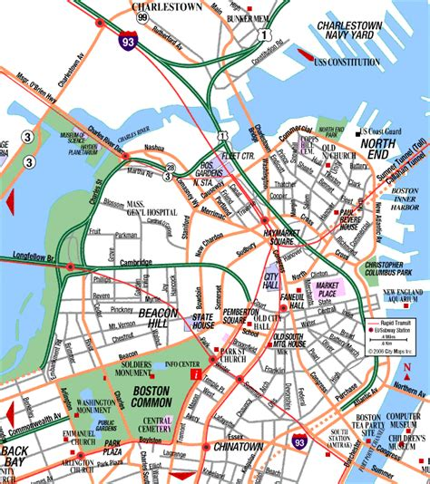 map of boston ma road map of central boston boston massachusetts aaccessmaps
