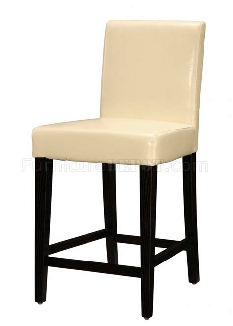 bar stools wooden legs beige faux leather bar stool with wooden legs