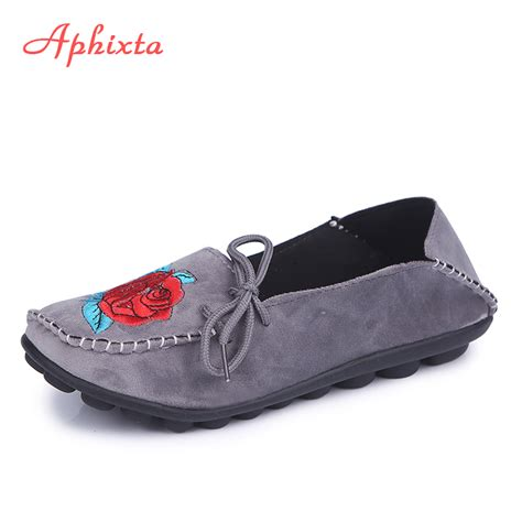 Heel W1398 New Arrival 9 Oct 2015 aliexpress buy aphixta loafers flats heel soft
