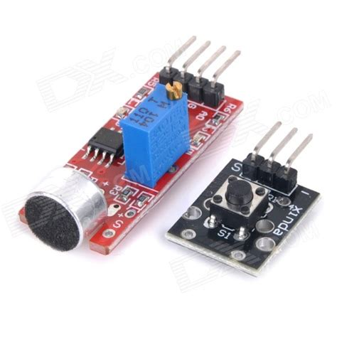 Velleza Set 2in1 2 en 1 micr 243 fono de alta sensibilidad sensor bot 243 n m 243 dulos set negro rojo gastos
