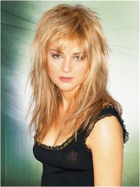 is a shag haircut the best for fat fase long hair messy funky layers long hair cuts pinterest