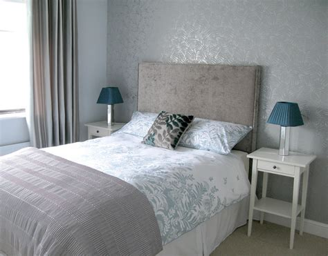 silver bedrooms silver grey guest bedroom modern bedroom dublin by