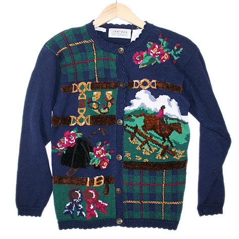 tacky sweater equestrian racing jumping tacky sweater