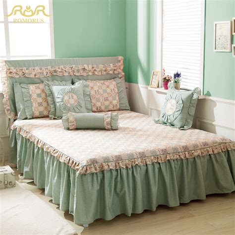 king size bed skirt romorus new beautiful princess 100 cotton twin full queen