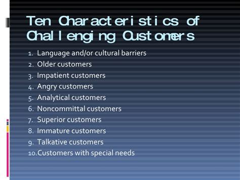 9 coping with challenging customers
