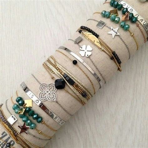 204 best images about pulseras y brazaletes on stella dot gold and leather