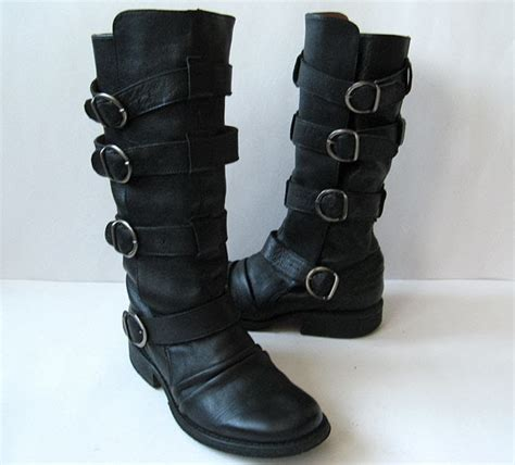 closet black boots aldo black leather