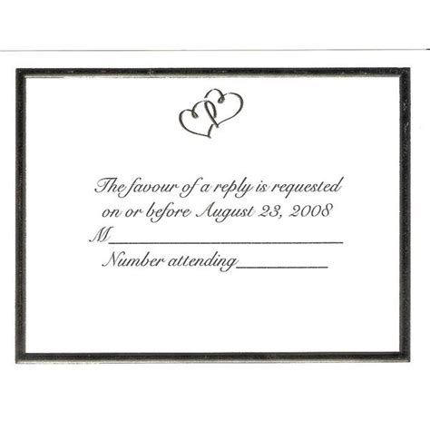 wedding reception response card template infoinvitation co