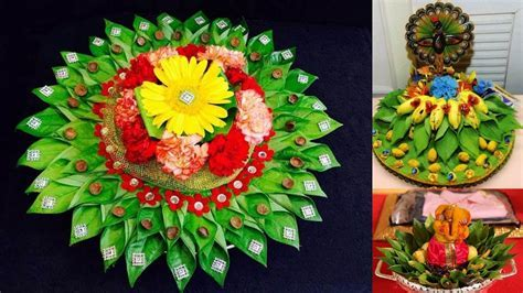 Decorative idea of betel leaf decoration tray for wedding