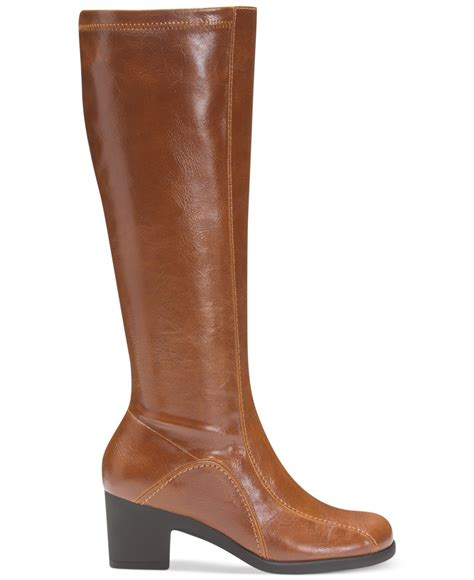 aerosole boots aerosoles lucky ticket boots in brown lyst