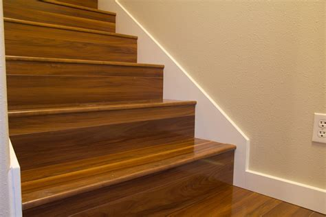 laminate flooring in stair treads with out flush nosing flooring contractor talk