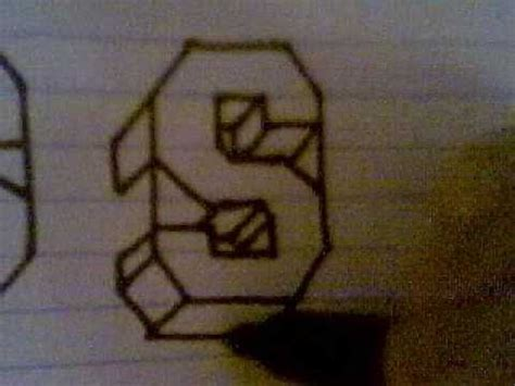 S Drawing 3d by How To Draw Block Letters