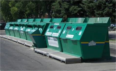 waste depot centralized recycling stations