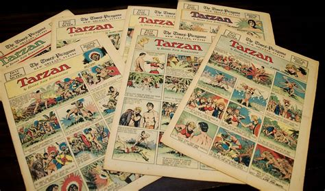 newspaper comic section comic strips a typical golden age comic section