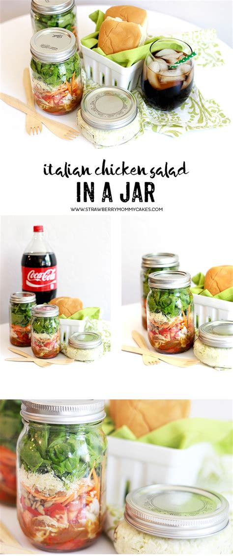 printable salad in jar recipes italian chicken salad in a jar recipe printable crush
