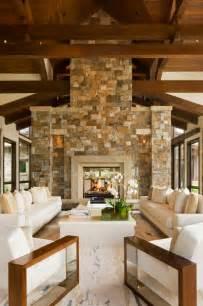 Wohnideen Wohnzimmer Rustikal Alte Holzbalken Und Steinw 228 Nde Garantieren Eine Warme