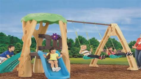 little tikes swing set with slide little tikes swing set climber slide giant surprise