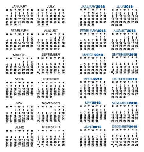 Custom Calendar 2018 Template