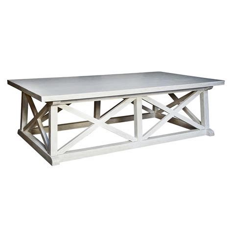 Coastal Table luc coastal white wash coffee table kathy kuo home