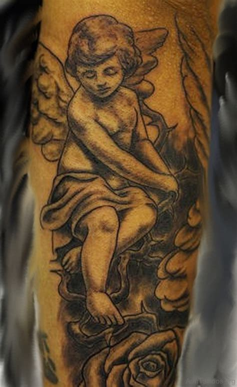 cherub sleeve tattoo designs 75 beautiful guardian tattoos for arm