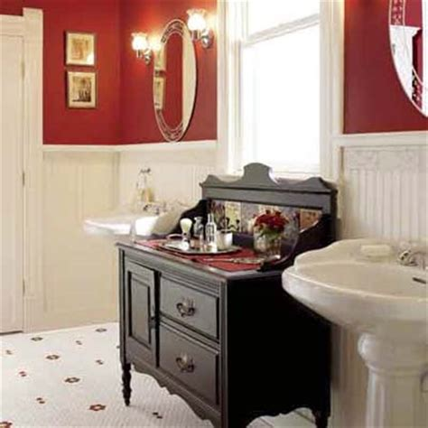 red bathroom beadboard on bathroom walls jimhicks com yorktown virginia