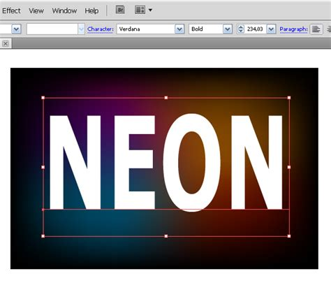 tutorial illustrator neon illustrator text effects how to create a neon text effect